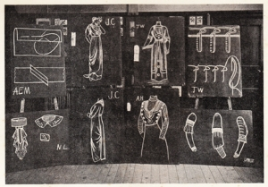 Blackboard Drawing for Needlework Teachers