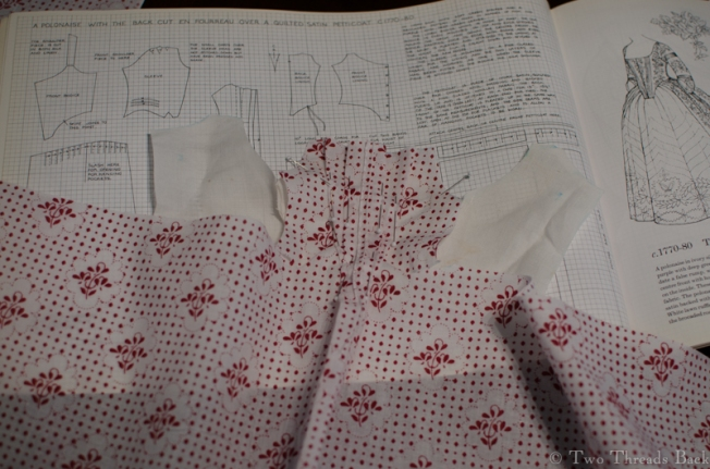 When it starts to look like a teensy little gown I begin to get excited.